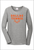 Dallas Tennis 100% Cotton Long Sleeve T-Shirt (Womens)