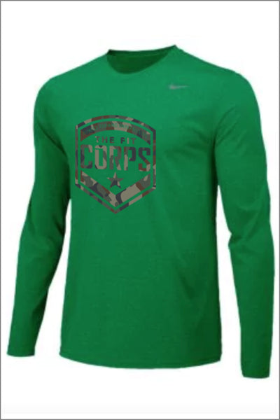 "Fit Corps ""Camo"" Nike Legend Long Sleeve Tee (Adult Unisex)"