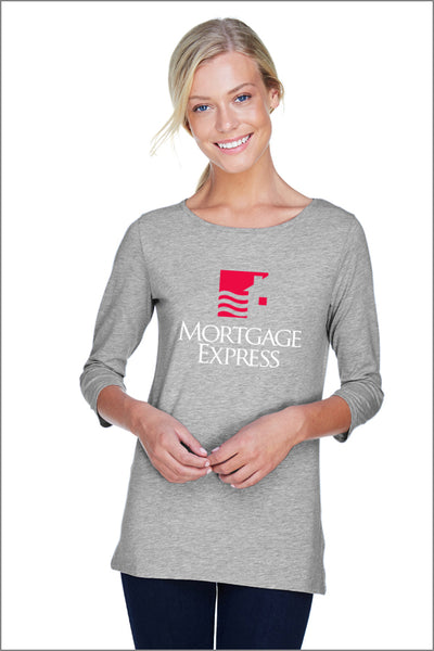 Mortgage Express Perfect Fit Ballet Knit Top (Womens)
