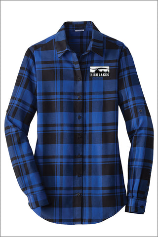 High Lakes Ladies Plaid Flannel Tunic (Womens)