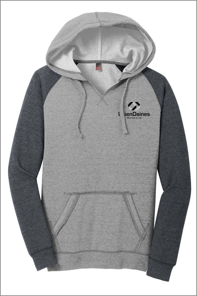 Olsen Daines Lightweight Fleece Raglan Hoodie (Womens)