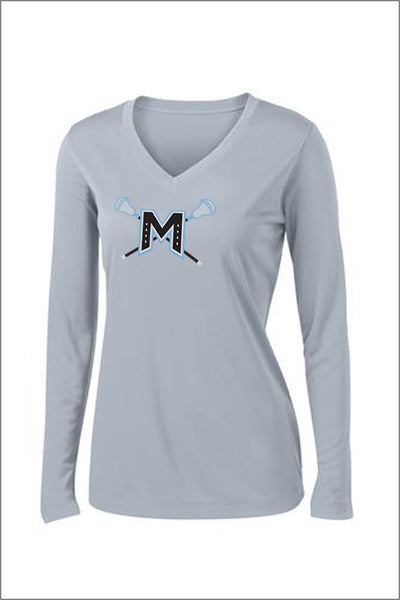 Mountainside Lacrosse PosiCharge Performance Long Sleeve Tee (Womens)