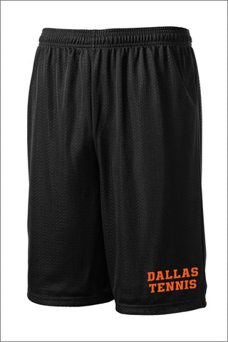 Dallas Tennis Long PosiCharge Classic Mesh Short (Adult Unisex)