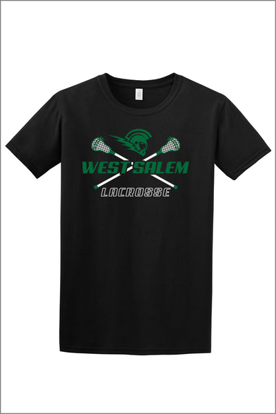 West Salem Lacrosse Short Sleeve Tee (Adult Unisex)