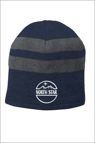 North Star Elementary Fleece-Lined Striped Beanie Cap