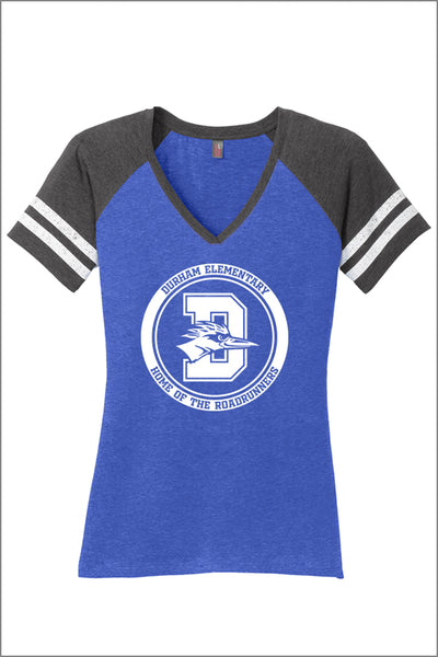 Durham Game V-Neck Tee (Womens)