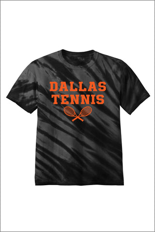 Dallas Tennis Tiger Stripe Tie-Dye Tee (Adult Unisex)