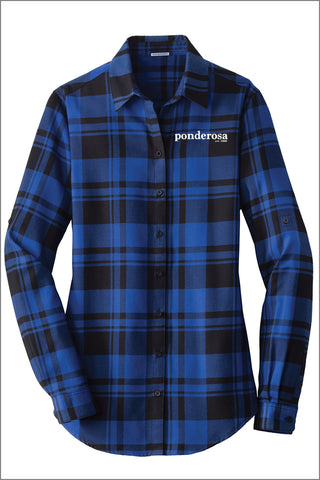 Ponderosa Plaid Flannel Shirt (Womens)