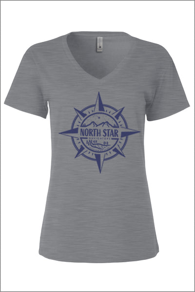North Star Elementary Relaxed V-Neck Tee (Womens)