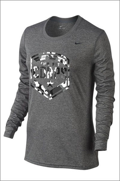 "Fit Corps ""Camo"" Nike Legend Long Sleeve Tee (Womens)"
