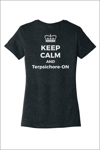 Terpsichorean Keep Calm Tee Shirt (Womens)