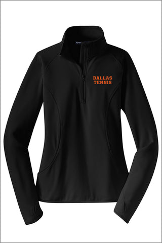 Dallas Tennis Sport-Wick Stretch 1/2-Zip Pullover (Womens)