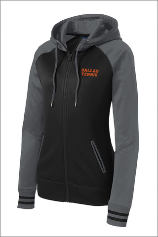 Dallas Tennis Sport-Wick Varsity Fleece Full-Zip Hooded Jacket (Womens)
