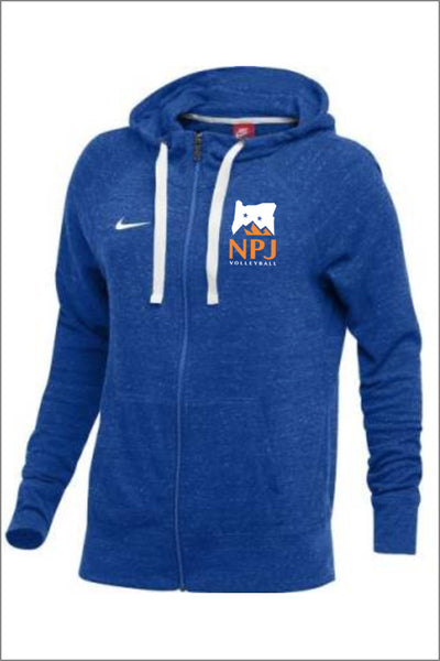 NPJ Logo Nike Gym Vintage Full Zip Hoodie (Womens)