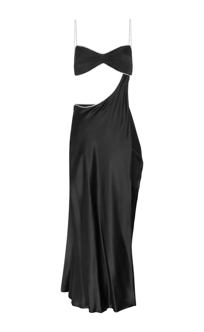 Black Symic Crystalline Luna Dress