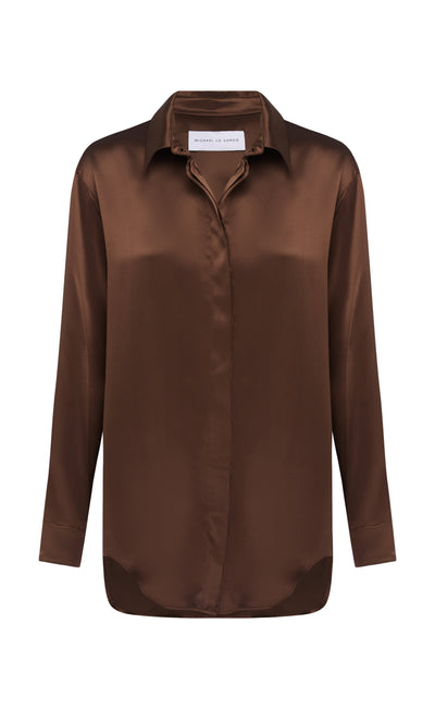 Cacao Relaxed Boy Shirt