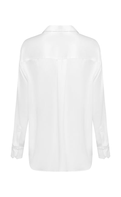 White Relaxed Boy Shirt