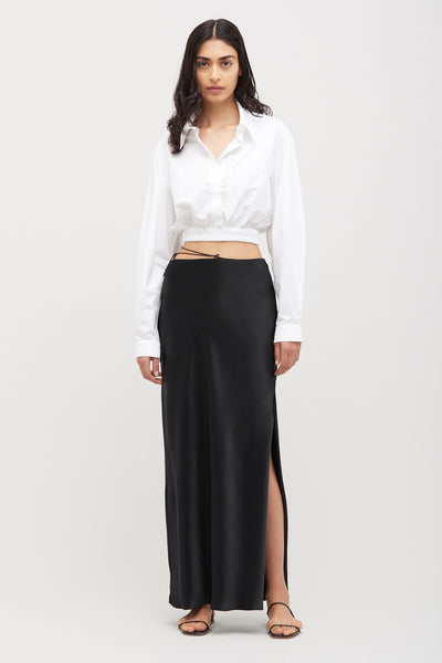 White Crop Cocoon Shirt