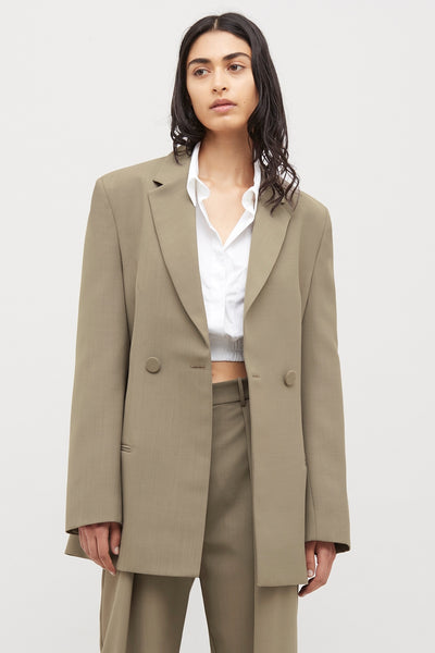 Nude Double Breasted Wool blazer