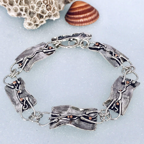 Lefler DesignStudio Argentium Sterling Silver and Copper Bracelet bracelet