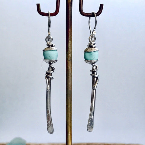 Lefler DesignStudio Afghan Turquoise Drop Earrings earrings