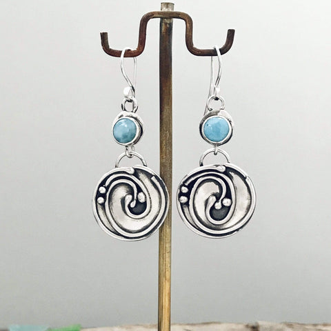 Lefler DesignStudio Blue Moon Tide Earrings earrings