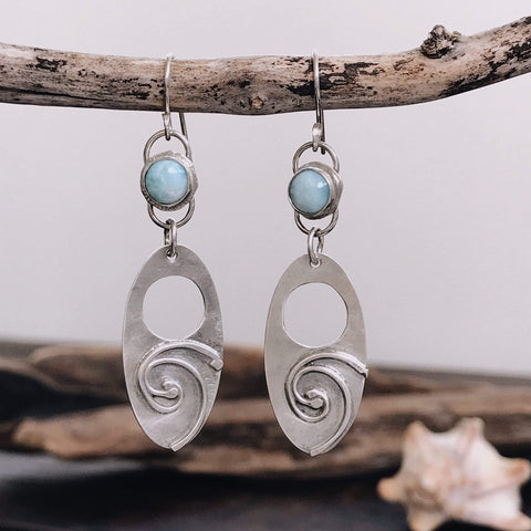 Lefler DesignStudio Copy of Turbulent Swell Earrings earrings