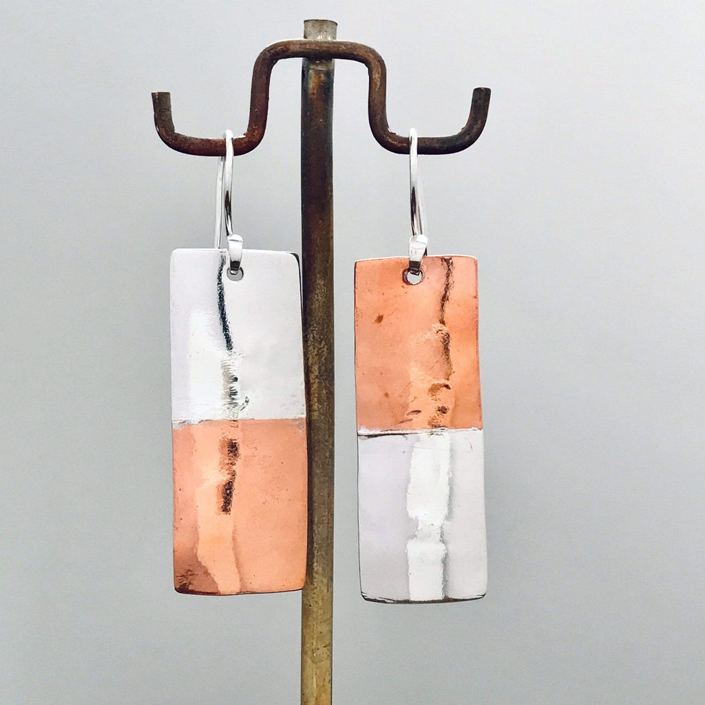 Lefler DesignStudio Dangle Copper Silver Earrings earrings
