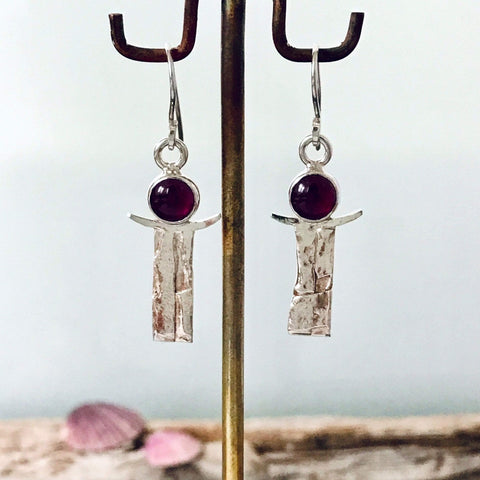 Lefler DesignStudio Rhodolite Garnet Earrings earrings