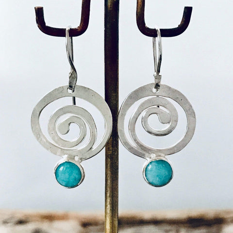 Lefler DesignStudio Rolling Wave Amazonite Earrings earrings