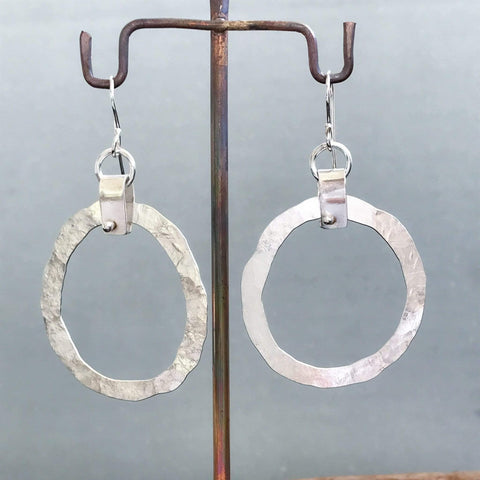 Lefler DesignStudio Strapped & Hammered earrings