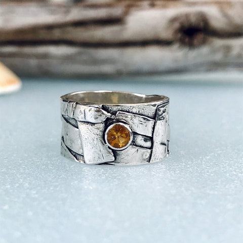 Lefler DesignStudio Golden Citrine Fused Band