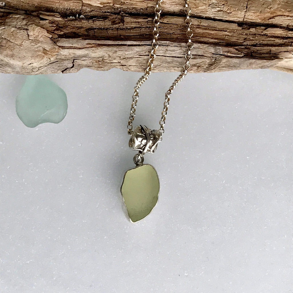 Lefler DesignStudio Lemon Lime Seaglass Necklace necklace