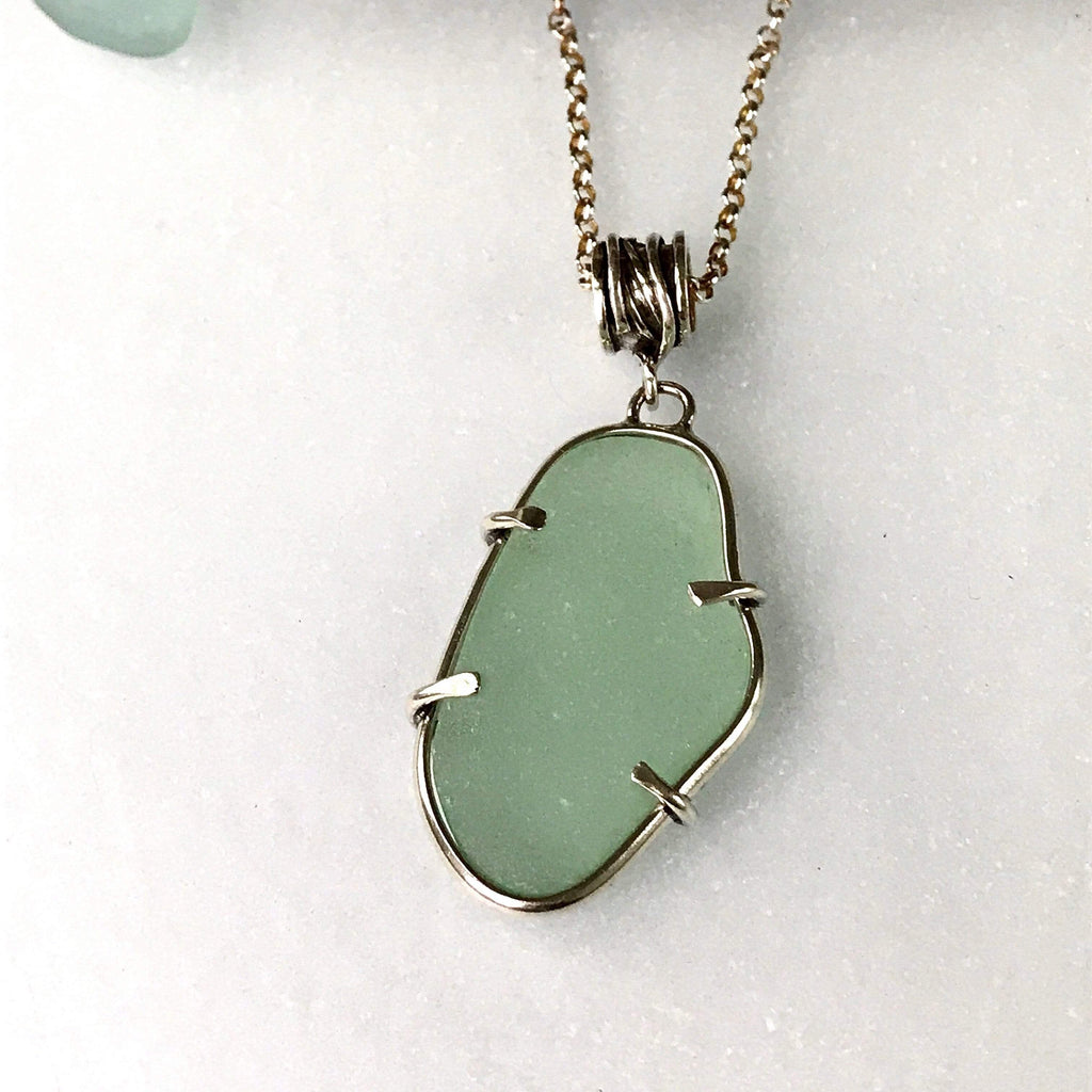 Lefler DesignStudio Sea Foam Seaglass Necklace necklace