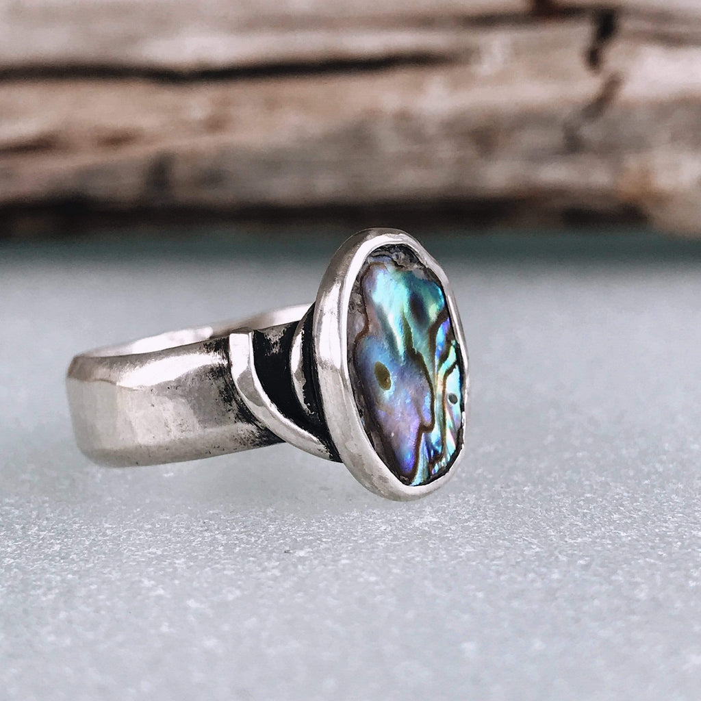 Lefler DesignStudio Paua Shell Hurricane Ring