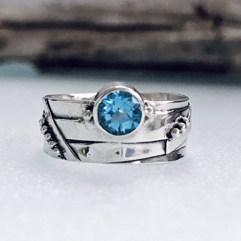 Lefler DesignStudio Swiss Blue Topaz Ring ring