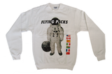 Spaceman Astro White Crewneck