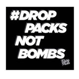 Drop Packs Not Bombs Black T-shirt