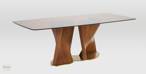 Dorchester Glass Top Dining Table