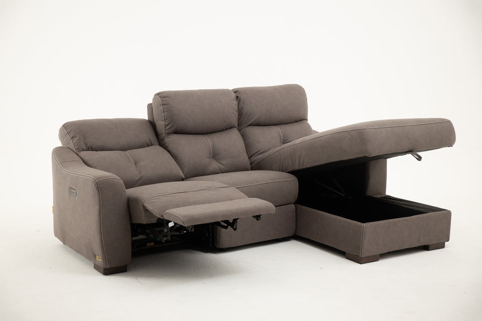 CANDALLO Power Recliner L-Sectional Sofa