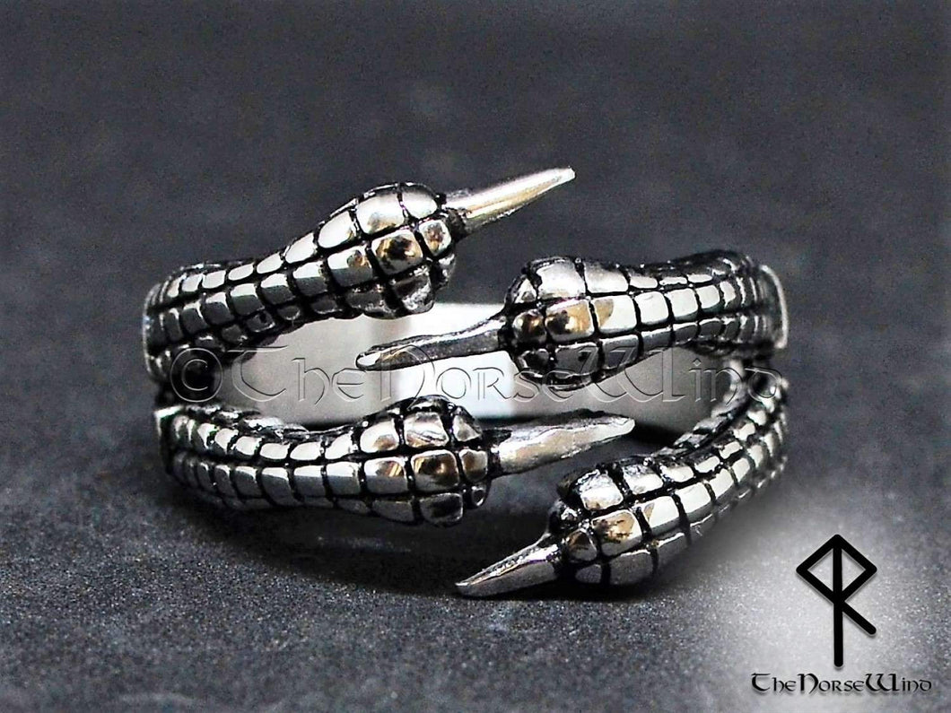 Dragon Claw Ring - Stainless Steel - TheNorseWind