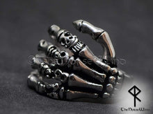 Load image into Gallery viewer, Gothic Skull Ring Skeleton Hand Stainless Steel - TheNorseWind