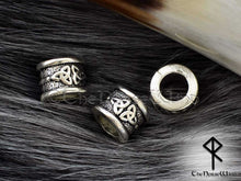 Load image into Gallery viewer, Beard Beads Celtic Knot in Silver TheNorseWind