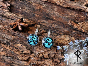 Dragon Earrings, Viking Ear Studs, Blue Earrings Celtic Knot Viking Jewelry Silver Celtic Jewelry Norse Mythology TheNorseWind