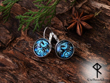 Load image into Gallery viewer, celtic dragon earrings