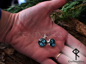 Dragon Earrings, Viking Ear Studs, Viking Jewelry Silver Celtic Jewelry