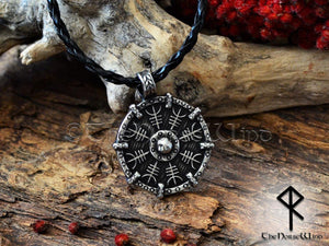 Helm of Awe Viking Necklace - Aegishjalmur Silver Pendant - TheNorseWind