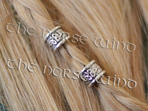 Beard Beads Celtic Knot in Silver TheNorseWind