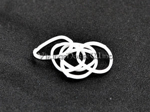 Celtic Beard Beads Silver Hair Rings TheNorseWind