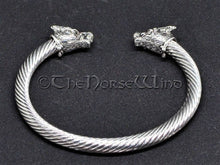 Load image into Gallery viewer, Viking Bracelet Fenrir Wolf Head Torque TheNorseWind